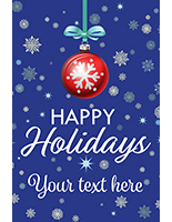 "24"" x 36"" ""Happy Holidays"" poster with festive message"