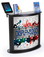 Custom Trade Show Counter with iPad Stand Weighs 45.5 lbs