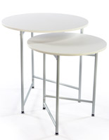 Round Retail Table Set is Nesting