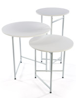 Trade Show Cocktail Table Set, 3 Units Included