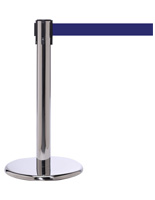 "Stainless Steel 24"" Retractable Stanchion Barrier"