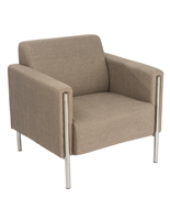 Modern Reception Chair with Stainless Steel Frame