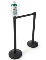 Waiting Area Stanchion Wipes Dispenser