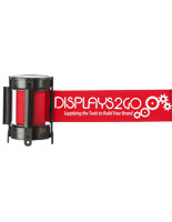 Branded Red Custom Stanchion Belt with 1 Color Printing