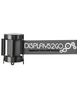 Nylon Gray Custom Stanchion Belt with 2 Color Printing
