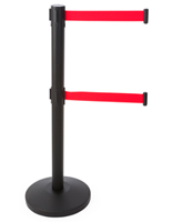"Dual Belt Black Stanchion Receiver, 14.25"" Overall Diameter"