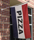 This restaurant flag selection features swooper, feather and traditional styles.