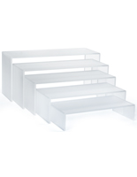 Frosted Acrylic Shelf Risers
