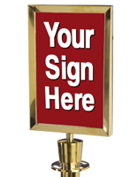 stanchion sign
