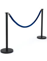 "39"" Stanchions with Blue Rope"