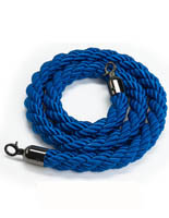 6.5' Blue Nylon Stanchion Rope