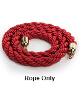Red Nylon Twisted Barrier Rope