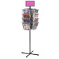 Durable Rotating Grid Rack with Literature Holders