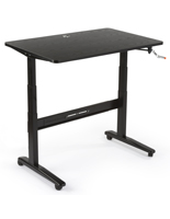 Rolling Manual Sit Stand Desk
