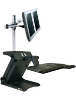 "Dual Monitor Standing Desk, 11"" x 13"" Tabletop"