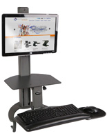 "Manual Sit-Stand System for 15"" Screens"