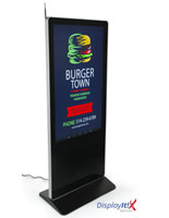 "55"" Digital Display Advertising System to Schedule Campaigns"