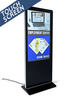 "55"" advertising multimedia kiosk with ethernet port"