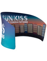 Curved and Sloped Exhibit Banner Stand