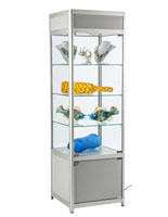 "LED Store Display Case, 18"" Overall Depth"
