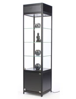"LED Display Case Tower, 18"" Overall Depth"