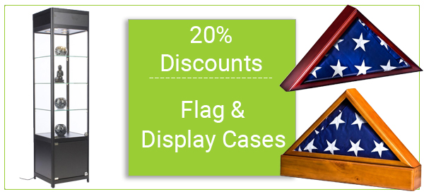 flag cases and display cases on sale