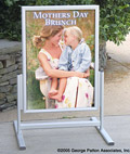 "Pavement Signs with 23""x33"" Snap Frames"