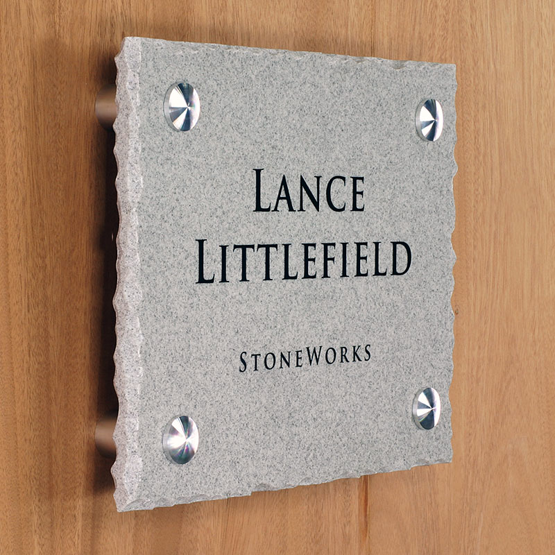 Corian® Solid Surface material makes for an unusual sign display