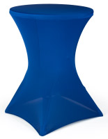 Cocktail Table Cover, Blue Stretch Fabric