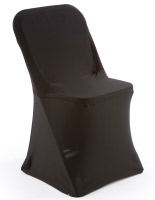 Black Stretch Chair Cover, Spandex Fabric