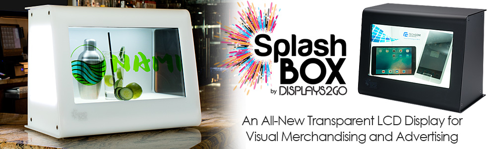 Introducing SplashBox, an all-new innovative merchandising fixture for retail and promotional applications
