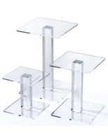 Clear Acrylic Square Riser Set