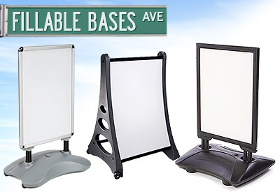 Signs with Fillable Bases