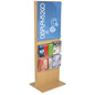 Poster Stand With 10 Brochure Holders for Stores