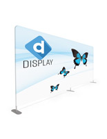 Stretch fabric tube display wall with custom full color graphic