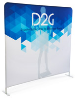 Double Sided 8' Wide Banner Backdrop with Stretch Fabric Graphics