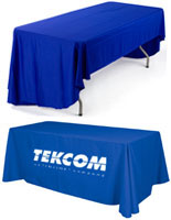 1 color imprinted table throw