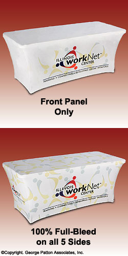 Table Skirts - 6 Foot Printed Ultra-Fit Table Covers