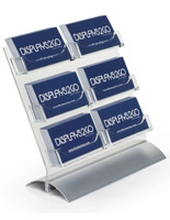 6 Pocket Business Card Holder with Metal Base
