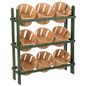 wood basket store fixtures
