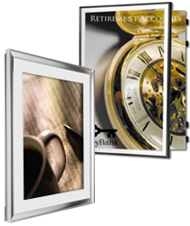 swing open poster frames