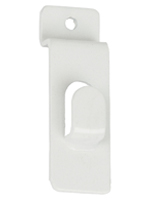Panel Mounted White Slatwall Picture Hook