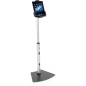 Black and Silver Universal Tablet Floor Stand