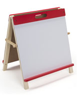 Desktop Easel for Kids with Red Frame
