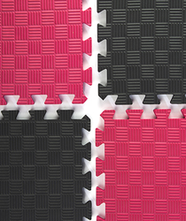 Red & Black Mix and Match Trade Show Mats