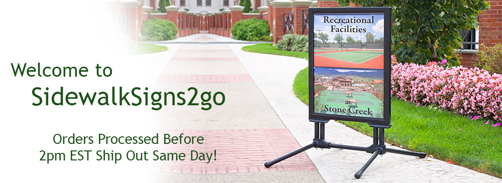 Sidewalk Signs | Suppliers of Sandwich Boards & A-Frame Sign