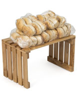 Wood Slat Table with Breads