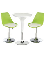 White Bar Lounge Chair and Table are Modern