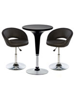 Bar Lounge Chair and Table Set, 3-Piece Collection