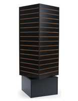 Revolving Slatwall Display Tower with Cube Panel